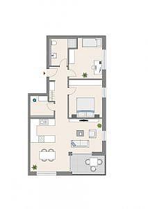 Haus C - Wohnung 5 - 1. OG