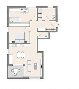 Haus D - Wohnung 13 - 1. OG