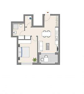 Haus D - Wohnung 14 - 1. OG